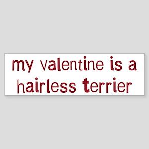 Hairless Terrier valentine Bumper Sticker