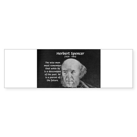 Herbert spencer bumper bumper sticker