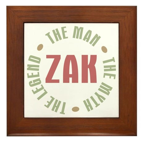Zak Man Myth Legend Framed Tile