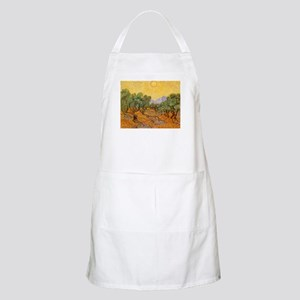 Van Gogh Olive Trees Yellow Sky And Sun Apron
