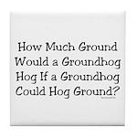 Groundhog Tile Coaster