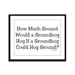 Groundhog Framed Panel Print