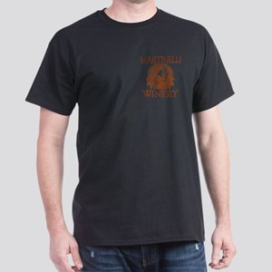 Martinelli Last Name Vintage Winery Dark T-Shirt