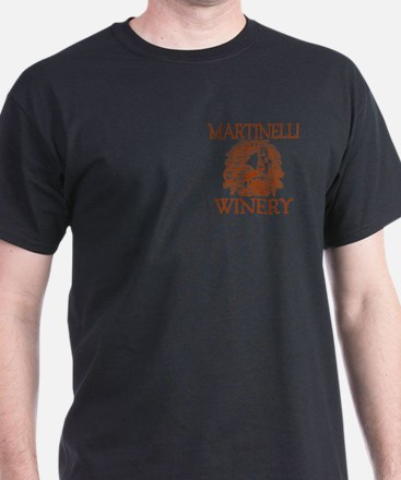 Martinelli Last Name Vintage Winery T-Shirt