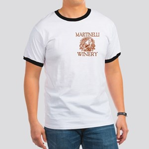 Martinelli Last Name Vintage Winery Ringer T
