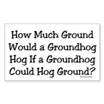 Groundhog Rectangle Sticker 50 pk)