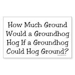 Groundhog Rectangle Sticker 10 pk)