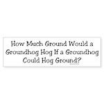 Groundhog Bumper Sticker (50 pk)