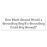 Groundhog Bumper Sticker (10 pk)