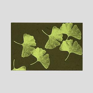 Ginkgo Leaves Rectangle Magnet