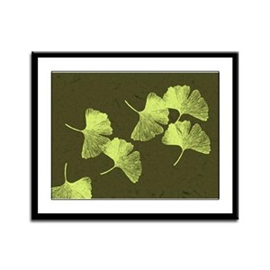 Ginkgo Leaves Framed Panel Print