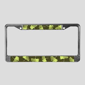 Ginkgo Leaves License Plate Frame