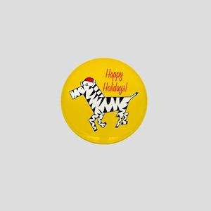 Zebra Holiday Mini Button