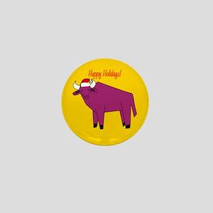 Yak Holiday Mini Button