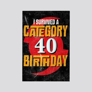 Category 40 Birthday Rectangle Magnet