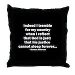 Thomas Jefferson Quote Throw Pillow