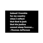 Thomas Jefferson Quote Rectangle Magnet (100 pack)
