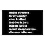 Thomas Jefferson Quote Sticker (Rectangle)