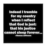 Thomas Jefferson Quote Tile Coaster