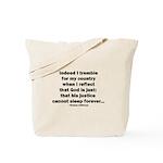 Thomas Jefferson Quote Tote Bag