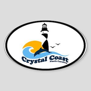 Crystal Coast Oval Sticker