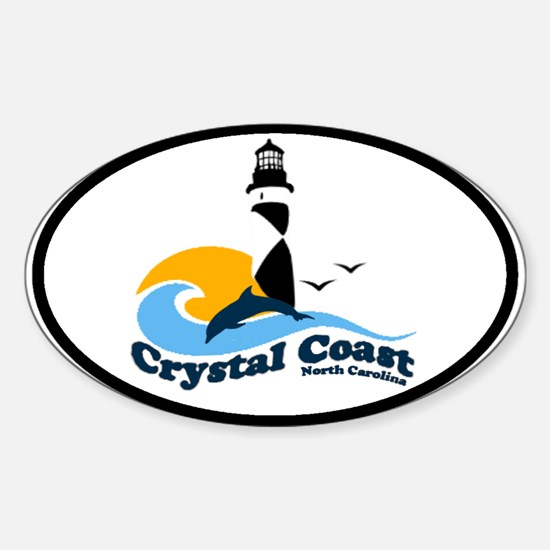 Crystal Coast Oval Decal