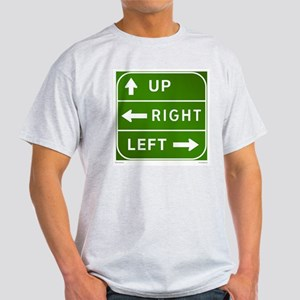 Up, Right, Left -  Ash Grey T-Shirt