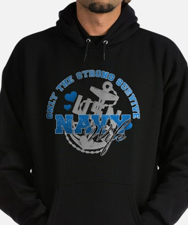 Only the Strong Hoodie (dark)
