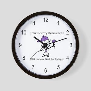 Jake's Crazy Brainwaves Wall Clock
