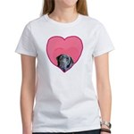 Black Lab Heart Dog Women's T-Shirt