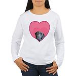 Black Lab Heart Dog Women's Long Sleeve T-Shirt