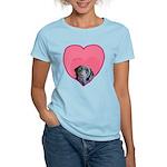 Black Lab Heart Dog Women's Light T-Shirt