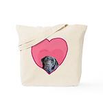 Black Labrador Heart Dog Tote Bag
