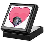 Black Lab Heart Dog Keepsake Box