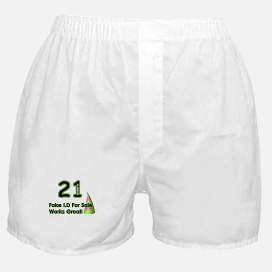 Fake ID Humor Boxer Shorts