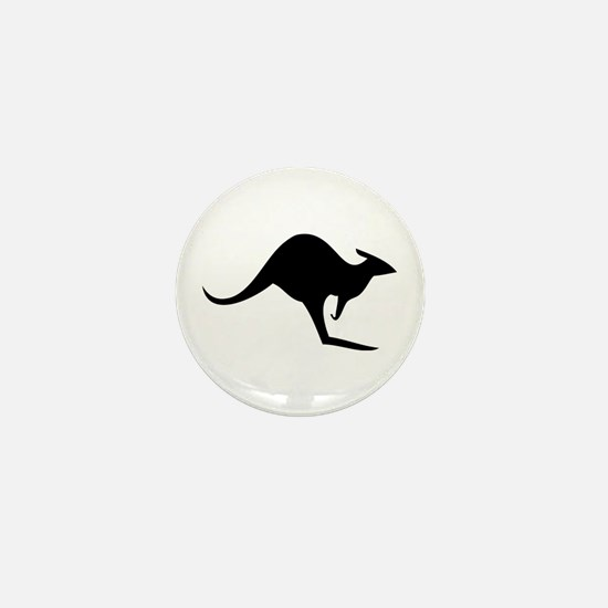 australian kangaroo black log Mini Button