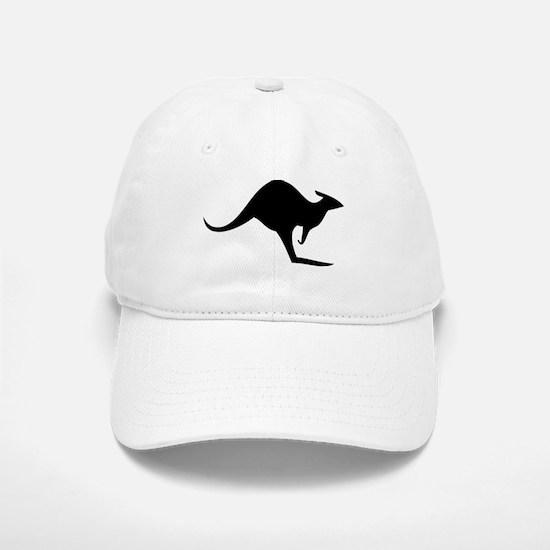 australian kangaroo black log Baseball Baseball Cap