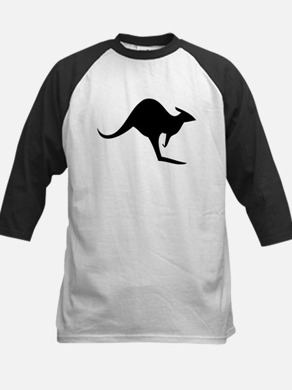 australian kangaroo black log Kids Baseball Jersey