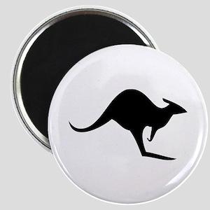 australian kangaroo black log Magnet