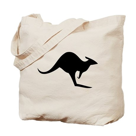 australian kangaroo black log Tote Bag