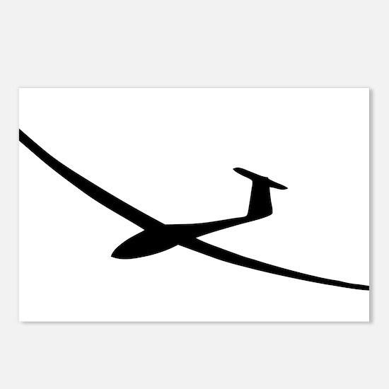 black glider logo sailplane Postcards (Package of