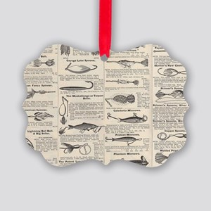 Fishing Lures Vintage Antique New Picture Ornament