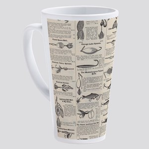 Fishing Lures Vintage Antique News 17 oz Latte Mug