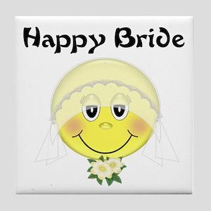 Happy Bride Tile Coaster