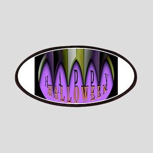 Purple Halloween Teeth Patch