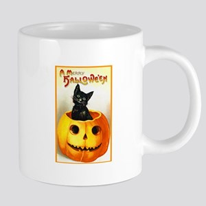 Jackolantern Black Cat Mugs