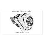 BoostGear 90mm + Club - Rectangle Sticker 10 pk)