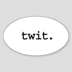 twit. Oval Sticker