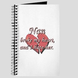 Nan broke my heart and I hate her Journal