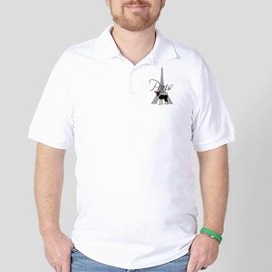 Le petit chien à Paris Golf Shirt